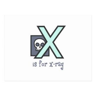 X está para la radiografía postales