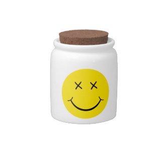X Eye Smiley Face Candy Jar