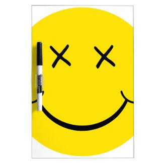 X Eye Smiley Face Dry Erase Board