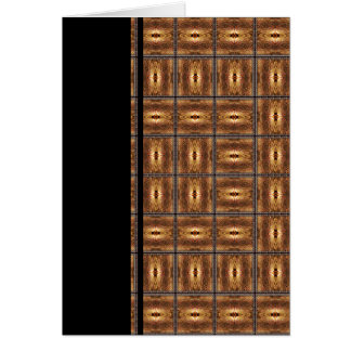 X Flames Grid Border Stationery Note Card
