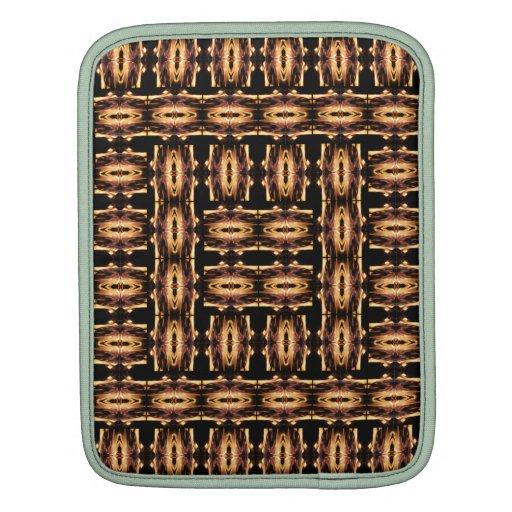 X Flames Grid iPad Sleeve