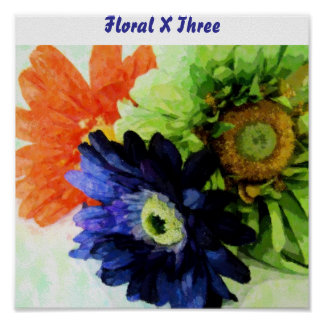 X floral tres posters
