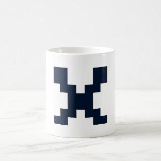 X for alphabet coffee mug