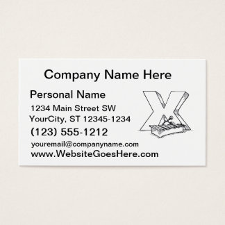 x for xylophone outline business card
