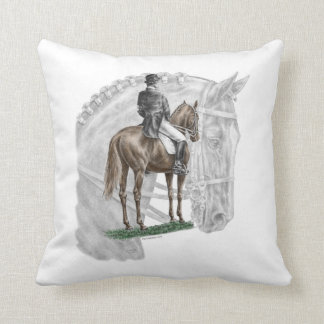 X-Halt Salute Dressage Horse Throw Pillow