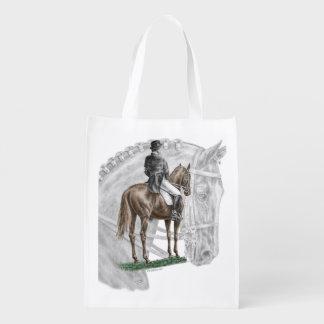 X-Halt Salute Dressage Horse Reusable Grocery Bag
