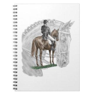 X-Halt Salute Dressage Horse Spiral Notebook