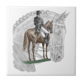X-Halt Salute Dressage Horse Tile