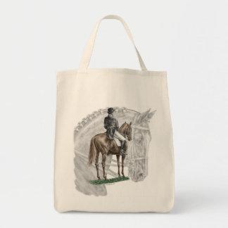 X-Halt Salute Dressage Horse Tote Bag