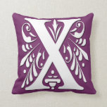 X Initial letter Monogram - Cushion