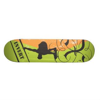 X Invert Green Custom Skate Board
