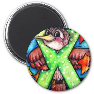 X is for Xenops 2 Inch Round Magnet