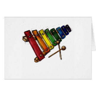 X is for Xylophone Card
