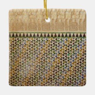 X.ITINERARIES: Moorish Tessellations Ceramic Ornament