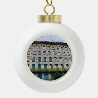 X.ITINERARIES: Otto Wagner, Linke Wienzeile 40  Ceramic Ball Christmas Ornament