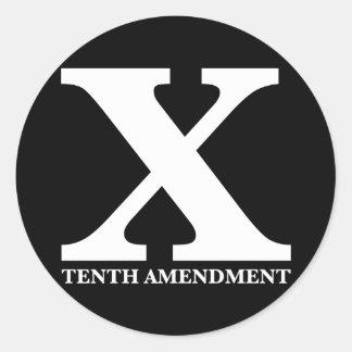 X La décima enmienda Etiqueta Redonda