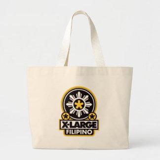 X-Large Filipino - Black Canvas Bag