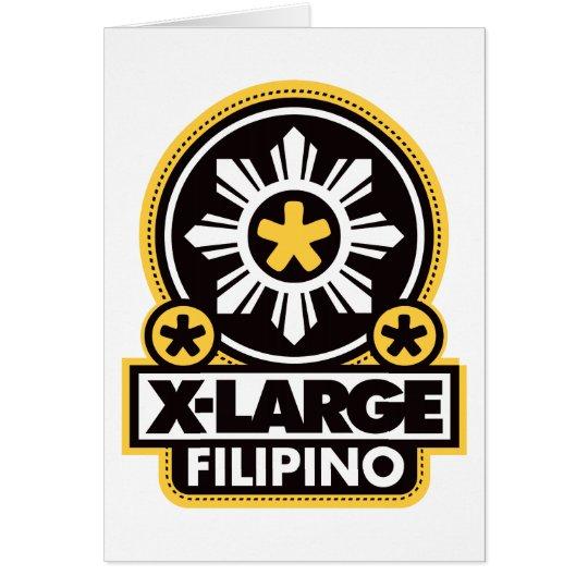 X-Large Filipino - Black Card