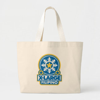 X-Large Filipino - Blue Canvas Bags