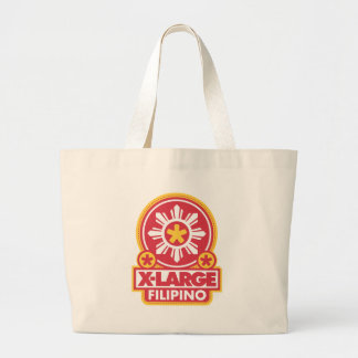 X-Large Filipino - Red Tote Bags