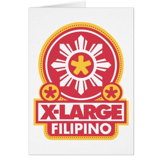 X-Large Filipino - Red Card