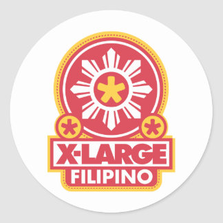 X-Large Filipino - Red Stickers