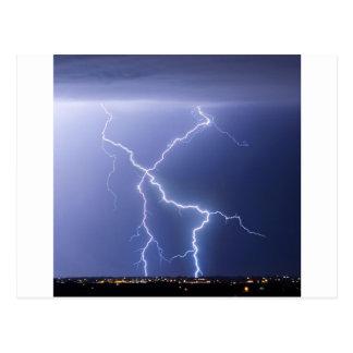 X Lightning Bolts In The Sky Bolts Postcard