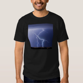 X Lightning Bolts In The Sky Bolts T Shirt