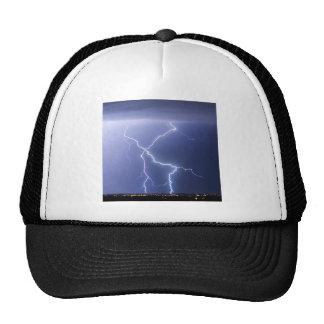 X Lightning Bolts In The Sky Bolts Trucker Hat