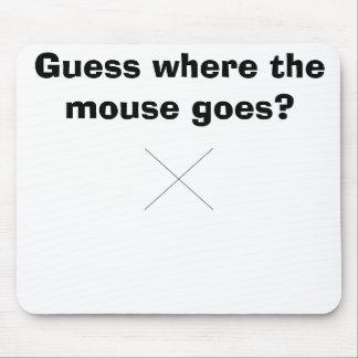 X marcas el punto alfombrillas de ratones