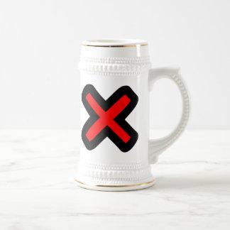 X marcas el punto jarra de cerveza