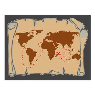 X marcas el punto - mapa del tesoro postal