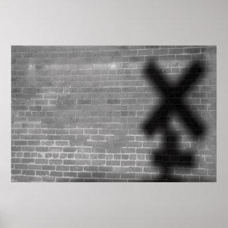 X marcas el punto póster