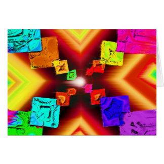X marcas el punto tarjeta de felicitación