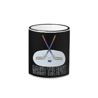 X marcas el punto taza de dos colores