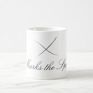 X marcas la taza del punto