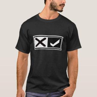 X Mark and Check Mark T-Shirt