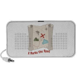 X Marks Spot iPod Speakers