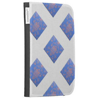 X Marks the Pink and Blue Damask Kindle 3 Covers