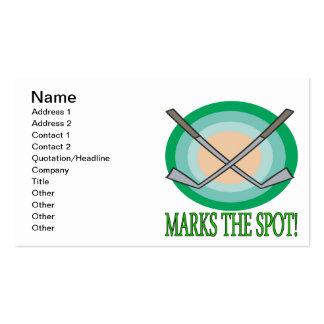 X Marks The Spot Business Card Template