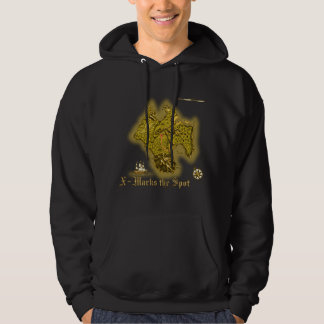 X Marks the Spot old style Hoodies