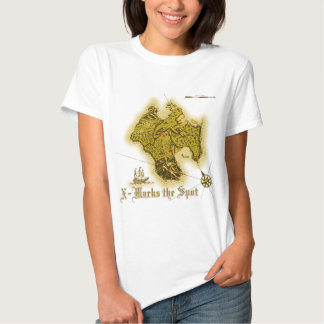 X Marks the Spot old style Ladies Baby Doll T Shirt