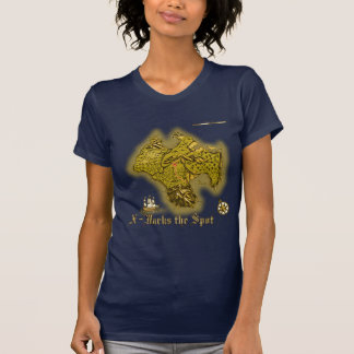 X Marks the Spot old style Ladies Petite T-Shirts
