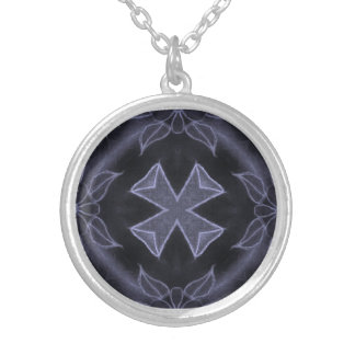 X marks the spot silver plated necklace