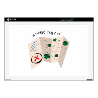 """X marks The Spot 17"""" Laptop Decal"""