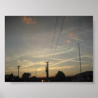 """ X marks the spot"" Sunset Louisville Ky Poster"