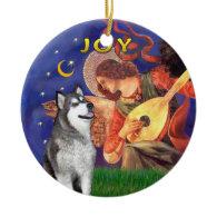 X Mas Angel 3 and a Alaskan Malamute Ornament