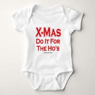 X-mas do it for the Ho's Baby Bodysuit