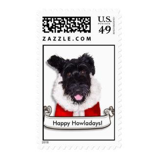 X-Mas Dog Happy Howladays! Postage