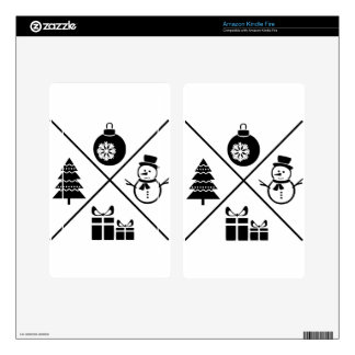 X-Mas Kindle Fire Decals